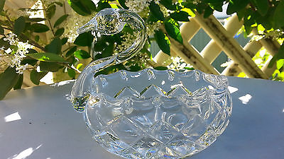 Clearance! Unused Heavy Leaded Crystal Vintage Swan A1 Condition