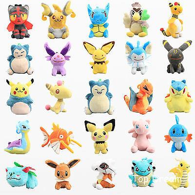 Pokemon Pikachu Series Plush Toy Soft Stuffed Aniaml Doll 5'' Pendant Keychain