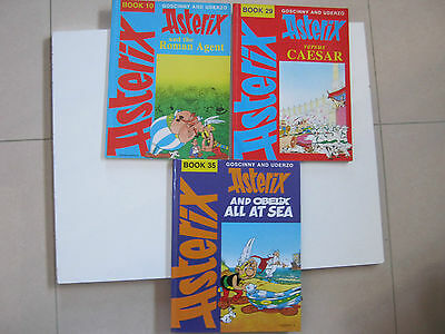 Asterix x 3 comic books