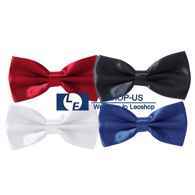 New Children Kids Boys Girls Pre-tied Solid Bow Tie Necktie Bowtie Party Wedding