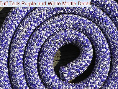 Tuff Tack Equestrian 100% Polyester Double Braid Purple and White Mottled