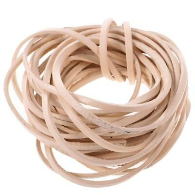 5m 3mm Flat Leather Cord For Bracelet Beading Jewelry Making Craft Beige