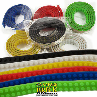 1M LEGO® Compatible Tape. 3M sticky back. Flexible silicon block tape.