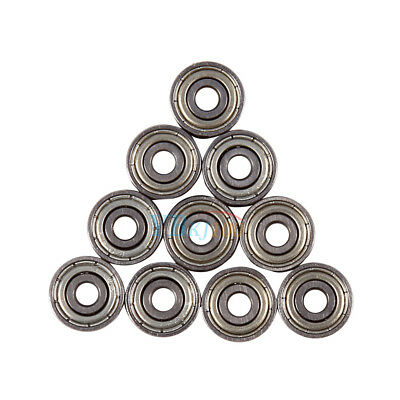 10pcs 3x10x4mm Carbon Chromium Steel Shielded Metric Sealed Bearings 623ZZ LJ