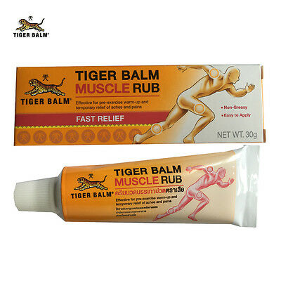 TIGER BALM MUSCLE RUB 30g for the warm up stiff muscles, tendon before exercise