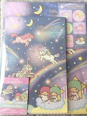 Letter Set Little Twin Stars 2017 Sanrio Paper Stationery Kawaii JAPAN Limited