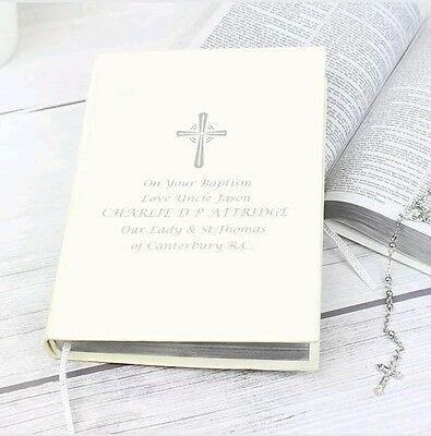 Personalised Holy Bible Christening Baptism Holy Communion Wedding