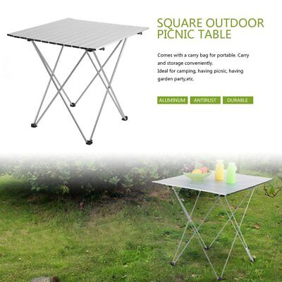 Aluminum Roll Up Table Folding Camping Outdoor Indoor Picnic w/ Bag Heavy Duty B