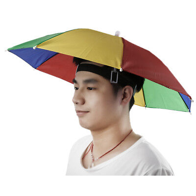 Foldable Umbrella Sun Hat Golf Fishing Camping Outdoor Hands Free New