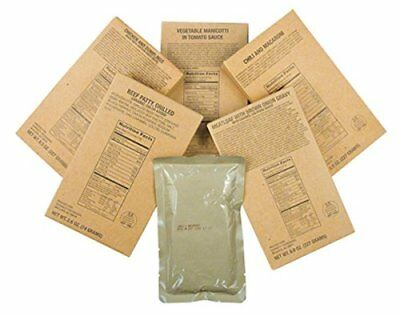 NEW Case of 12 MRE Entrees from Meals Ready to Eat FREE SHIPPING