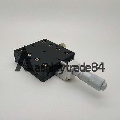 X-Axis Middle Trimming Platform manual Linear Stage Slider Bearing 60*60mm