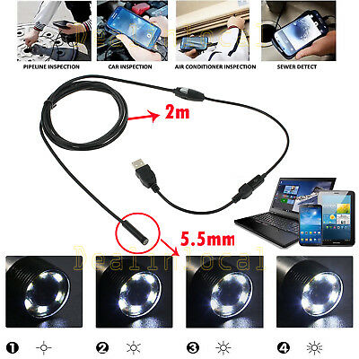 7mm 6Led Android Phone Endoscope IP67 Inspection Borescope HD Camera video