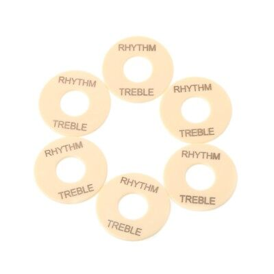 new 6x Cream LP Guitar Toggle Switch Washer Rhythm Treble Ring for Les Paul