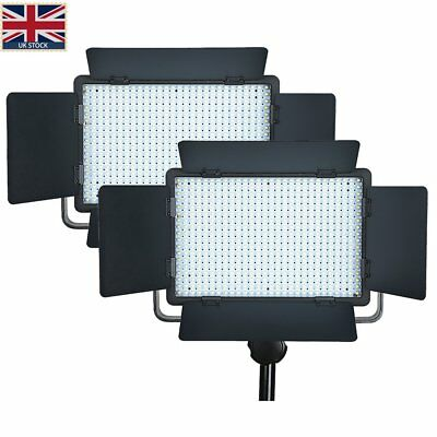 UK 2*GODOX LED500C Changeable Version Continuous LED Video Studio Light+Remote