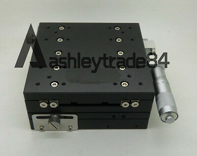 XY-Axis LY125-RM Stage Manual Slide Table Trimming platform 125*125mm 46mm