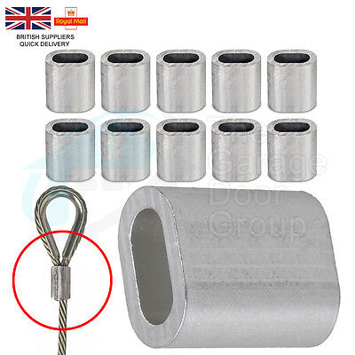 10 X 3mm Aluminium Wire Rope Ferrules Crimping sleeves for 3mm Wire ...