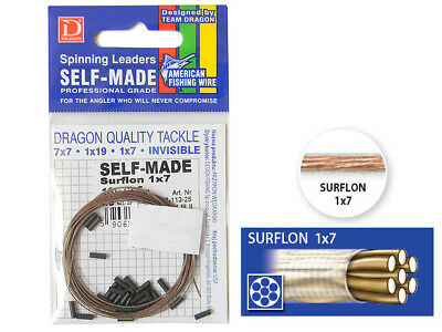 Dragon / Self-Made 1x7 Surflon / 5-13kg / 2,5m wire + 25 sleeves / pike leader