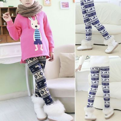 Winter Leggings Kids Baby Girl Warm Thicken Cotton Blends Pants Trousers Bottoms
