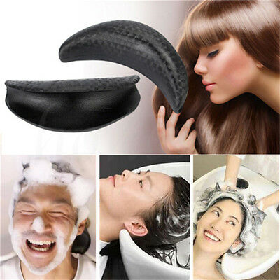 Rubber Neck Rest Cushion Pillow for Beauty Hairdressing Basin Sink Black