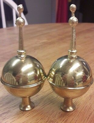 A Pair Of Longcase/grandfather Clock Brass Spire Finials-No Reserve!!!