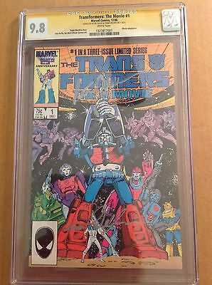 CGC SS 9.8 Transformers The Movie #1 signed Peter Cullen & Frank Welker 1986