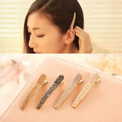 Korean Women Girls Bling Headwear Crystal Rhinestone Hair Clip Barrette Hairpin