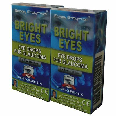Ethos Bright Eyes NAC Glaucoma Eye Drops.Two Boxes includes 4 x 5ml Bottles.