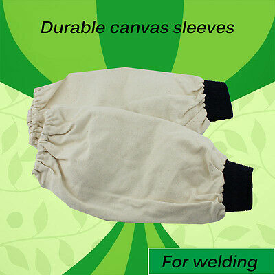 1 Pair Flame Retardant Welder Welding Arm Protective Cotton Sleeves 14inch