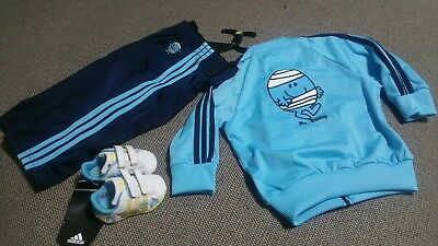 Rare Adidas Originals Baby Kids Mr. Bump Tracksuit & Shoes Winter New Unisex New