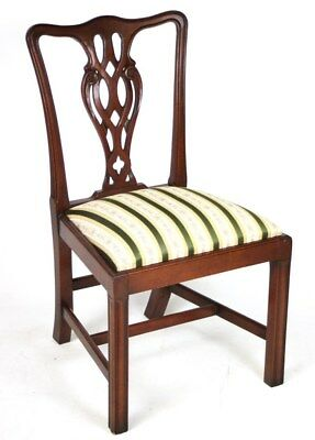 Antique Chippendale Mahogany Dining Chair - FREE Shipping [PL1581]