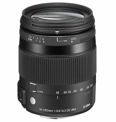 Sigma 18-200mm F3.5-6.3 DC Macro OS HSM For Canon Filter Size 62mm Lens
