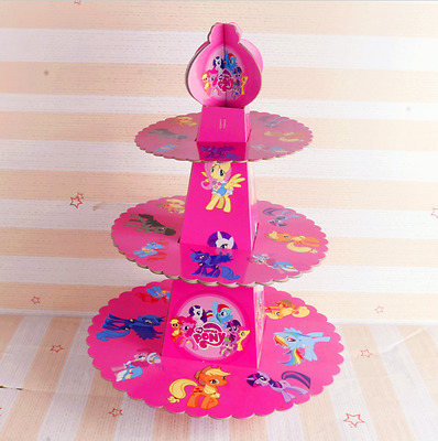 My little pony 3-tier Cake Stand Cupcake Holder Baby Kids Birthday Party Supplie