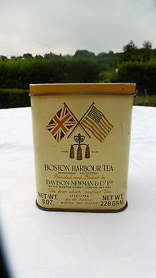 RARE Davison NEWMAN + CO Boston HARBOUR TEA TIN -