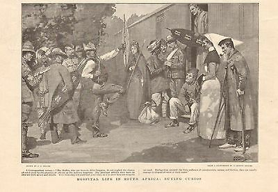 1901 Antique Print - Boer War -Hospital Life In South Africa