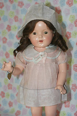 "GORGEOUS!! Vintage All Original EFFANBEE MARY LEE 17"" Composition & Cloth Doll"