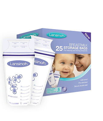 Breastmilk Storage Bags 25's  6 X 25 Bags