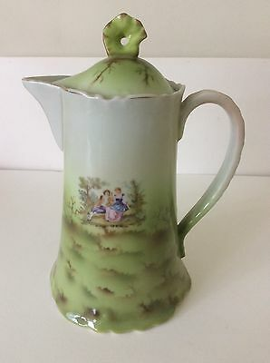 Russian Imperial Porcelain Gardner Pitcher with lid