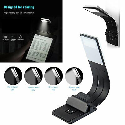 Magnetic USB Rechargeable LED Book Light Flexible Clip On Night Reading Lamp New