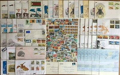 Zimbabwe Huge Lot of Stamps, Covers, Postcards and Checks 5 Scans