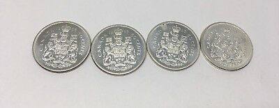 1964 and 1965 Canada Fifth Cents Half Dollar - Lot of 4