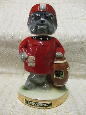 Vintage Georgia Bulldogs Football Decanter 1971 Ezra Brooks Distillery