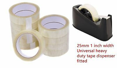 6 X Rolls 1'' Clear Strong Packing Mailing Tape Cellotape Sellotape 25Mm X 66M