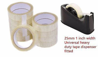 6X Rolls 1'' Clear Strong Packing Mailing Tape Cellotape Sellotape 25Mm X 66M 4U