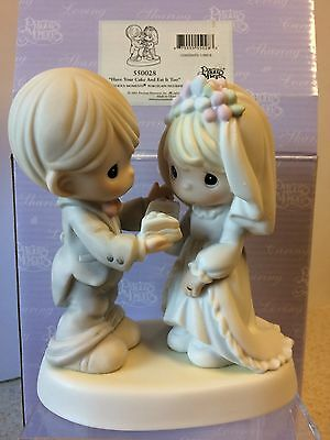 """Precious Moments Porcelain Figurine """"Have Your Cake and Eat it Too"""" #550028"""