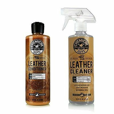 Chemical Guys Leather Cleaner & Conditioner Kit 16oz + Microfibre