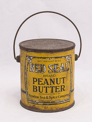 Red Seal Brand Peanut Butter Tin 16Oz.