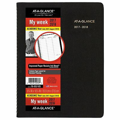 AT-A-GLANCE Academic Appointment Weekly Book / Planner, July 2017 - August 2018,