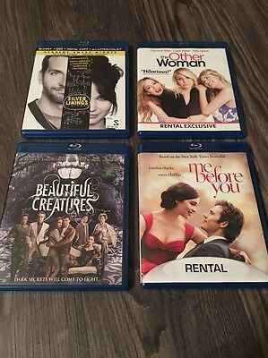 Bluray Lot- me before you, beautiful creatures, the other woman, silver linings