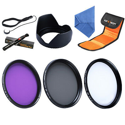 K&F Concept 58mm UV CPL FLD Filtro filter kit set Polarizador para Sigma Tamron