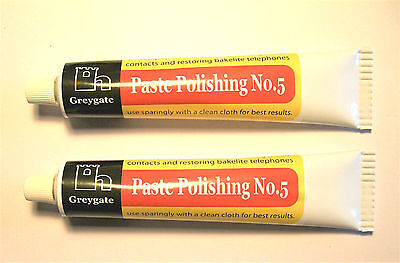 2 Tubes Hard Plastic & Vintage Bakelite Restoration and Polishing Paste 2 x 60g